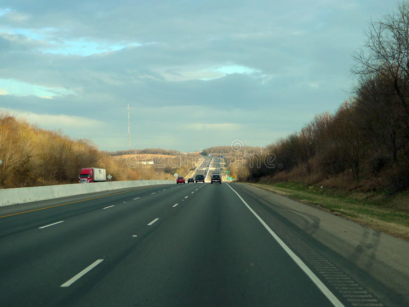 Fayetteville, Arkansas, Northwest Arkansas Highway 49. Highway 49 near Fayetteville, Arkansas. The busy metropolis is the headquarters to Walmart royalty free stock photography