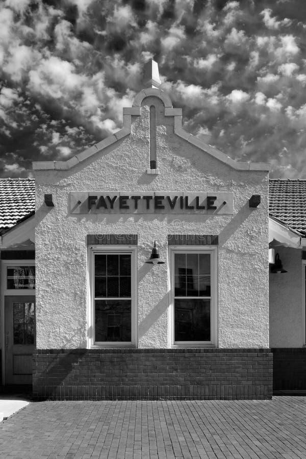 Fayetteville Train Depot stock photography