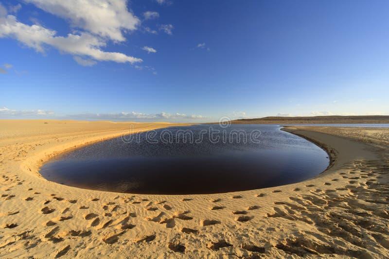 Fayoum jezioro fotografia stock