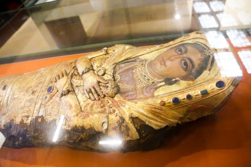 Fayum mamusie - Kair muzeum zdjęcia stock