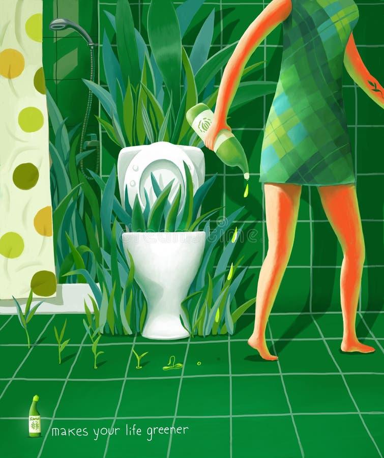 Faz sua vida mais verde ilustração stock