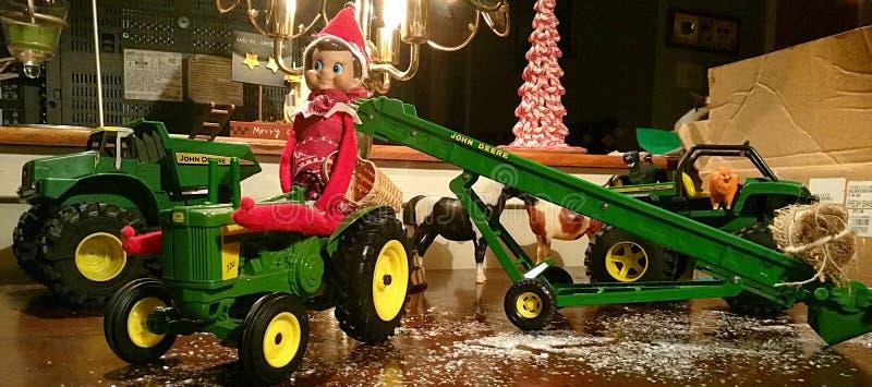 Fazendeiro Buddy Elf na prateleira fotos de stock royalty free