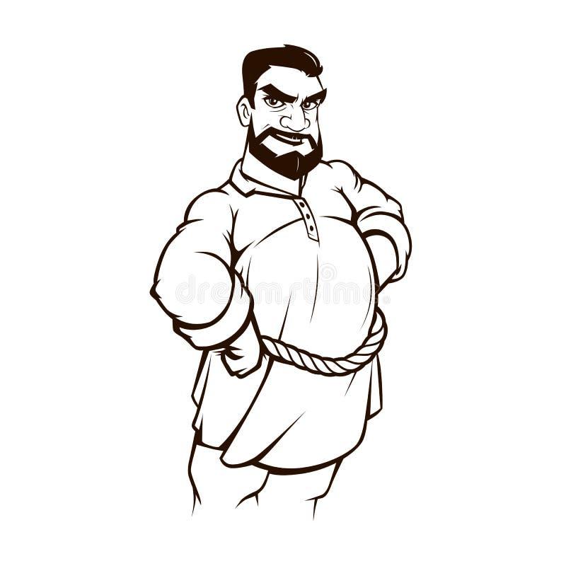 Fazendeiro Cartoon ilustração royalty free