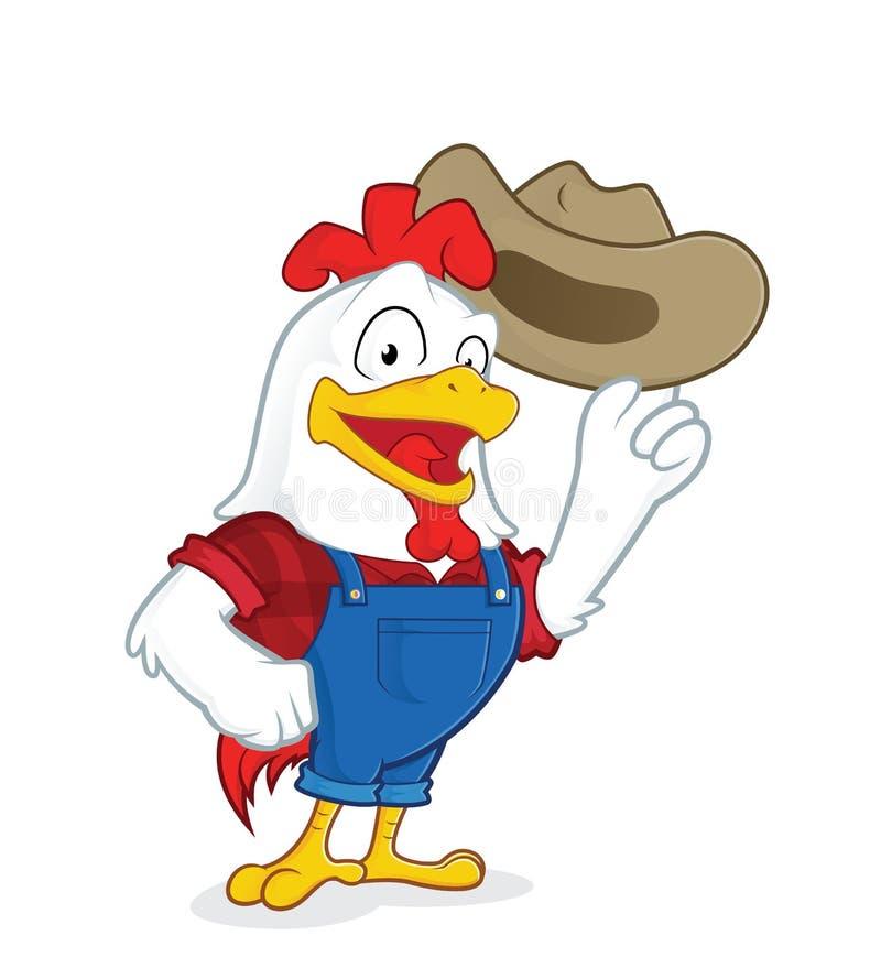 Fazendeiro da galinha ilustração royalty free