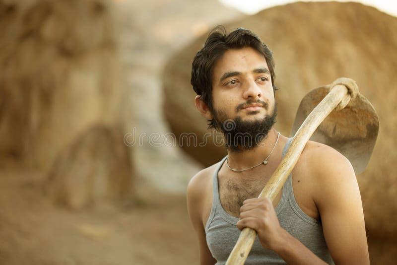 Fazendeiro indiano fotografia de stock