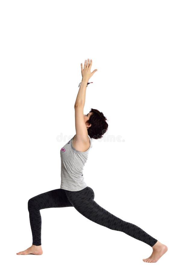 Fazendo a ioga imagem de stock