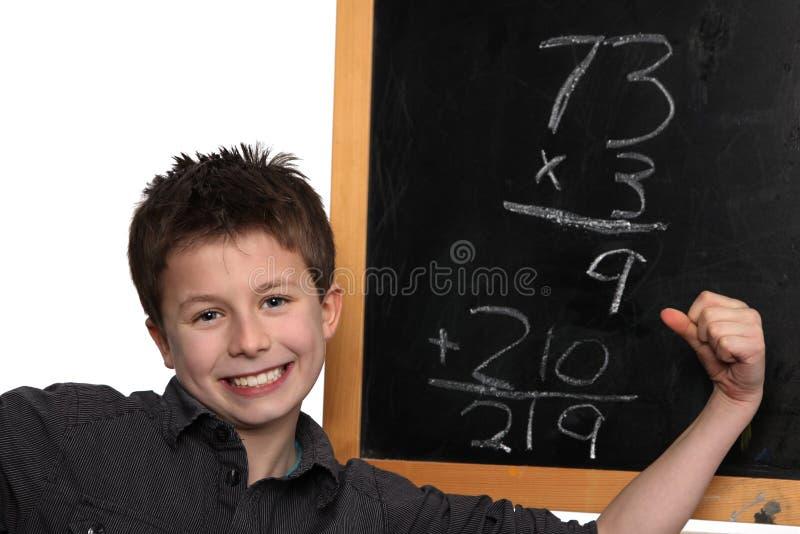 Fazendo a matemática foto de stock