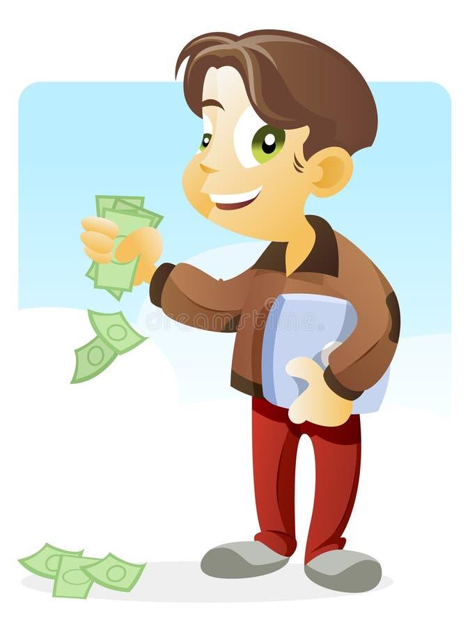 Fazendo o dinheiro ilustração royalty free