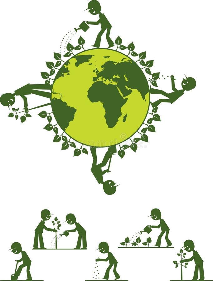 Fazendo a terra esverdear