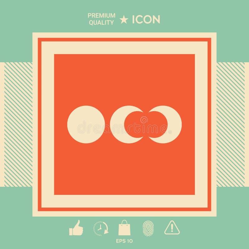 Fazy księżyc ikony ilustracja wektor
