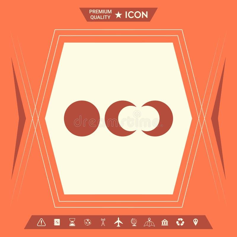 Fazy księżyc ikony royalty ilustracja