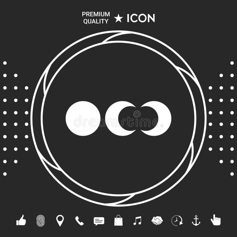 Fazy księżyc ikony Graficzni elementy dla twój designt ilustracji