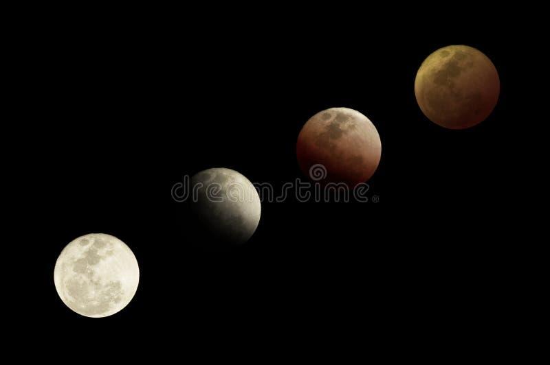 fazy księżyca fotografia stock