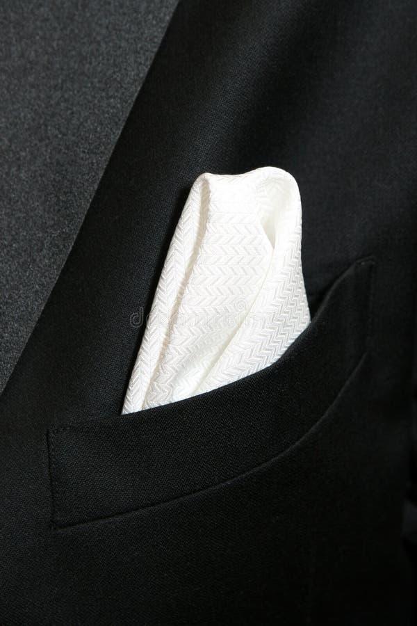 Fazzoletto bianco fotografie stock