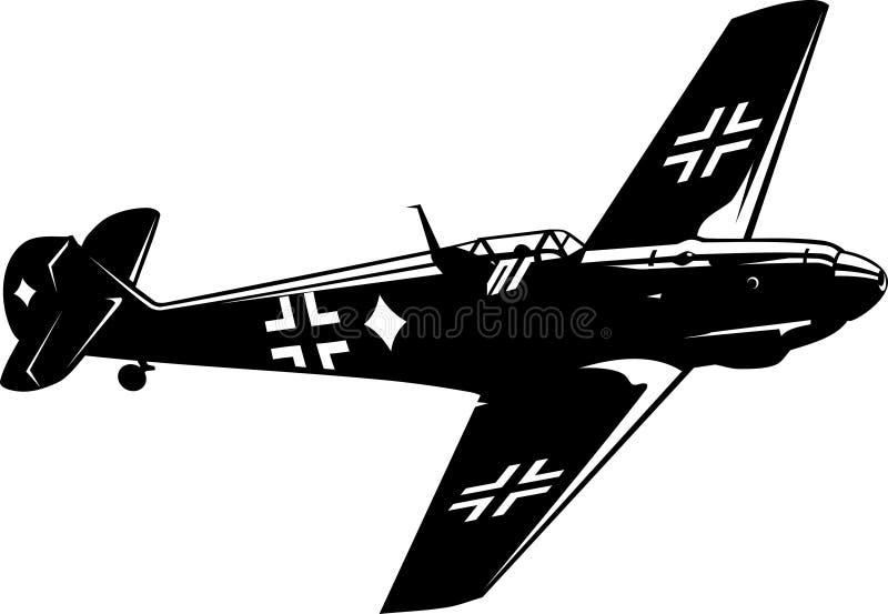 FB 109 de Messerschmitt del combatiente ilustración del vector