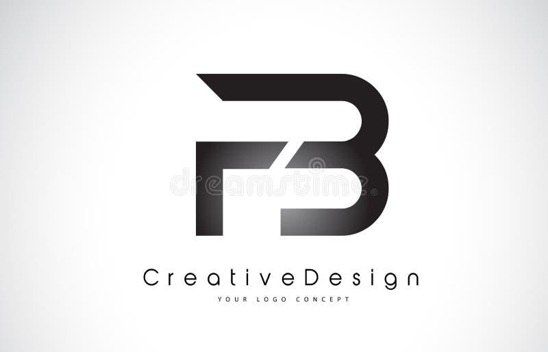FB F B Brief Logo Design Creatieve Pictogram Moderne Brieven Vectorl vector illustratie