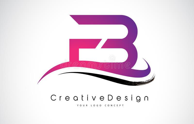 FB F B Brief Logo Design Creatieve Pictogram Moderne Brieven Vectorl stock illustratie