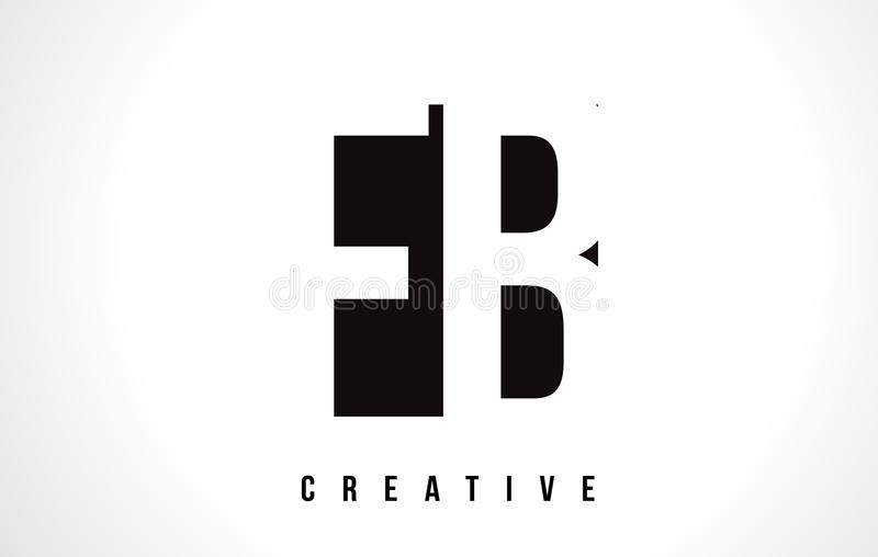 Fb F B White Letter Logo Design With Black Square Stock Vector