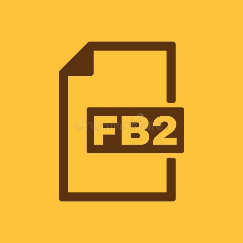 The FB2 icon. File format symbol. Flat. Vector illustration. Button stock illustration
