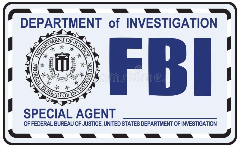 FBI agent specjalny ilustracja wektor