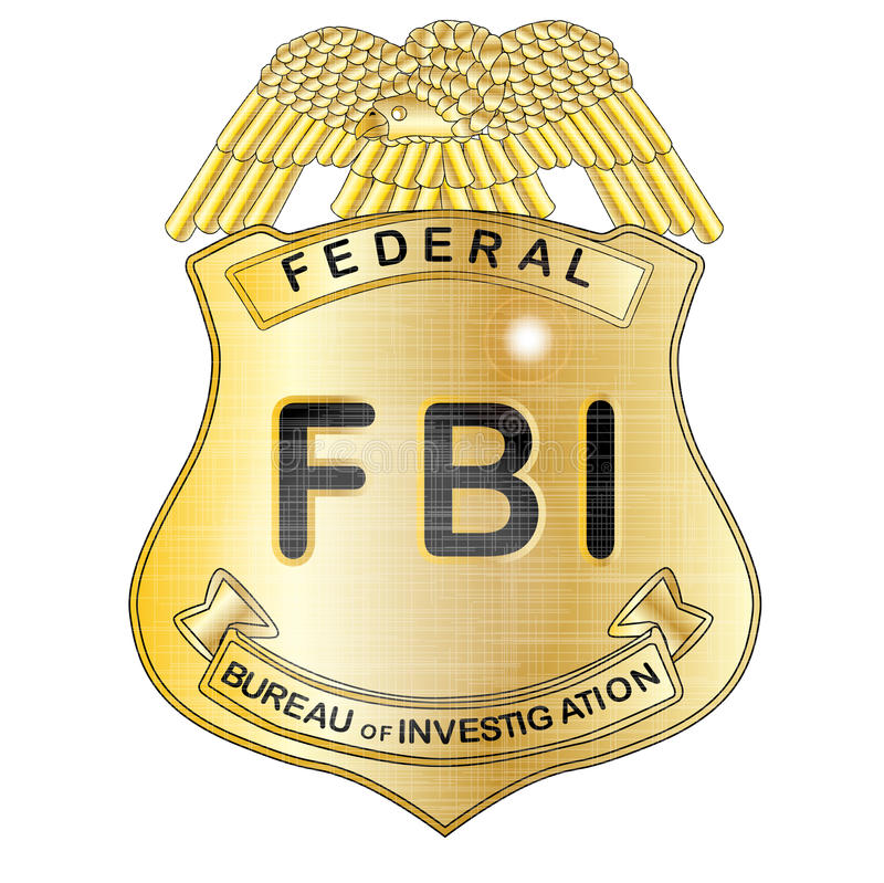 fbi badge stock illustration illustration of united 52333320