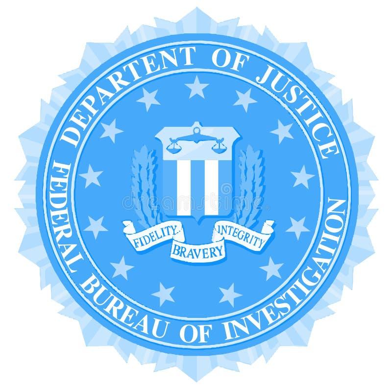 FBI Dichtung im Blau stock abbildung