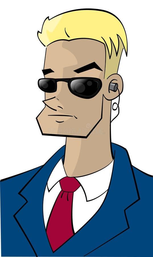 FBI-indivíduo do personagem de banda desenhada ilustração do vetor