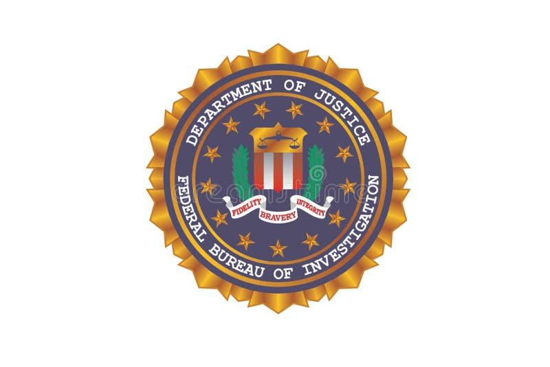FBI Logo Editorial Vetora Illustration ilustração do vetor