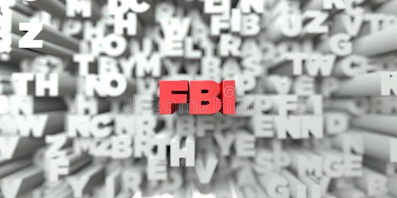 FBI - Rode tekst op typografieachtergrond - 3D teruggegeven royalty vrij voorraadbeeld stock illustratie