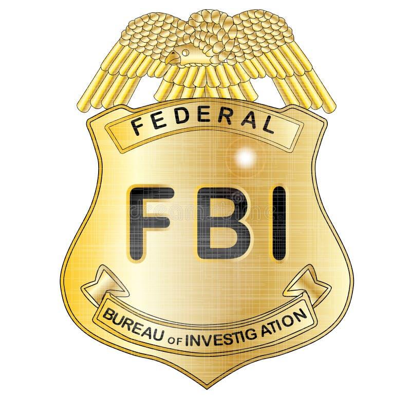 FBIemblem royaltyfri illustrationer