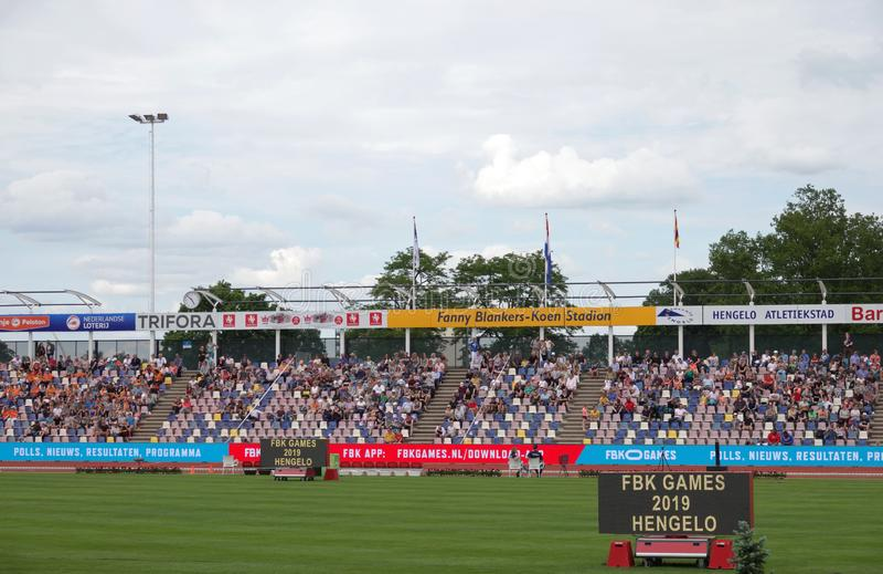 FBK-Spiele in Fanny Blankers Koen Stadium in Hengelo stockbild