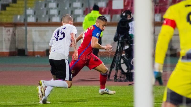 FC沃伦塔里- Steaua布加勒斯特 库存图片