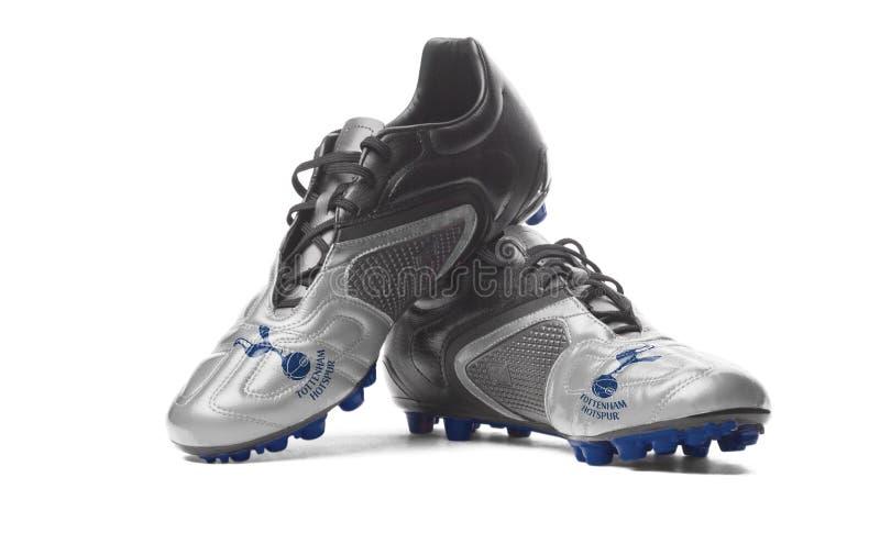 FC Τόττεναμ Hotspur - μπότες ποδοσφαίρου στοκ φωτογραφίες