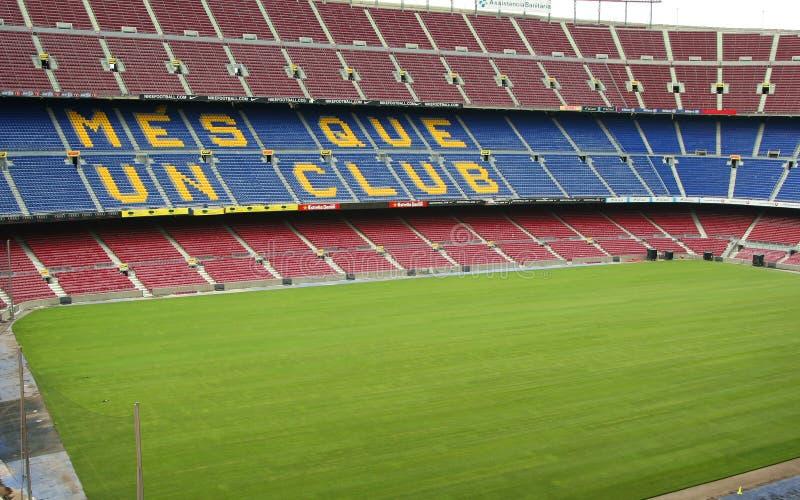 FC Barcelona. BARCELONA, SPAIN, JULY 24: FC Barcelona (Nou Camp) football stadium. It is the largest stadium in Europe. Barcelona, Spain on july 24, 2011 stock photography