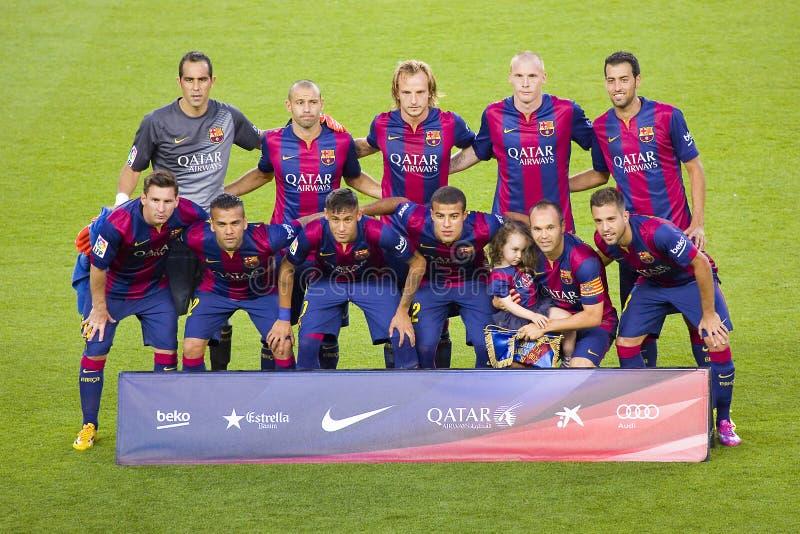 FC Barcelona 2014 - 2015 imagen de archivo