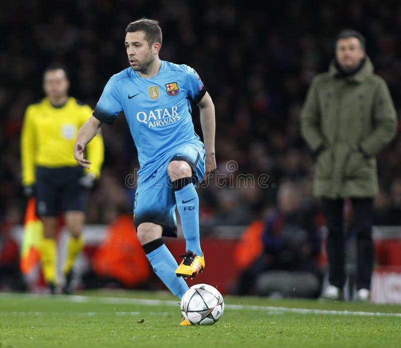 FC Barcelona del arsenal FC v - ronda de la liga de campeones de UEFA de 16: Primera pierna imágenes de archivo libres de regalías