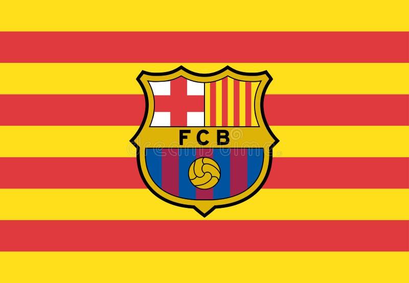 FC Barcelona Logo Editorial Vetora ilustração royalty free