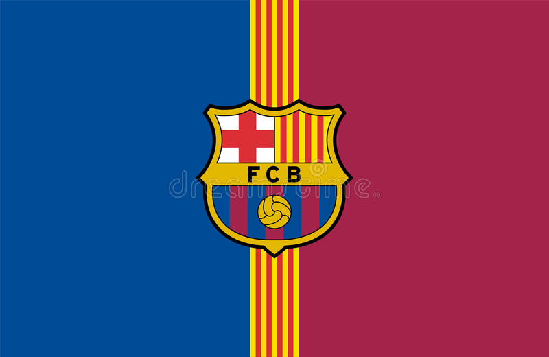 FC Barcelona logo. Barcelona, England March 01, 2017: Vector illustration of FC Barcelona logo. Futbol Club Barcelona, commonly known as Barcelona and familiarly