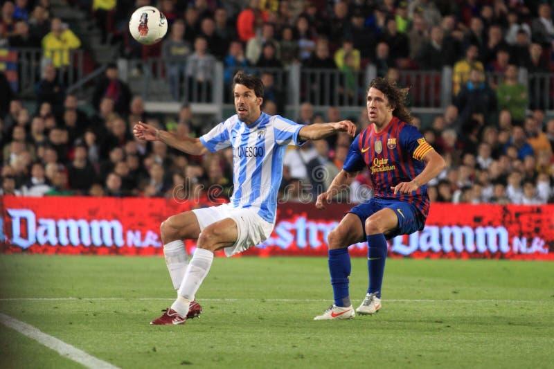 FC Barcelona - Malaga CF arkivfoto