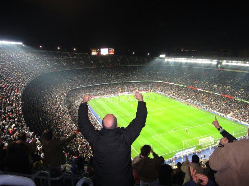 FC Barcelona stadium crowded, Spain. FC Barcelona stadium, Camp Nou royalty free stock images