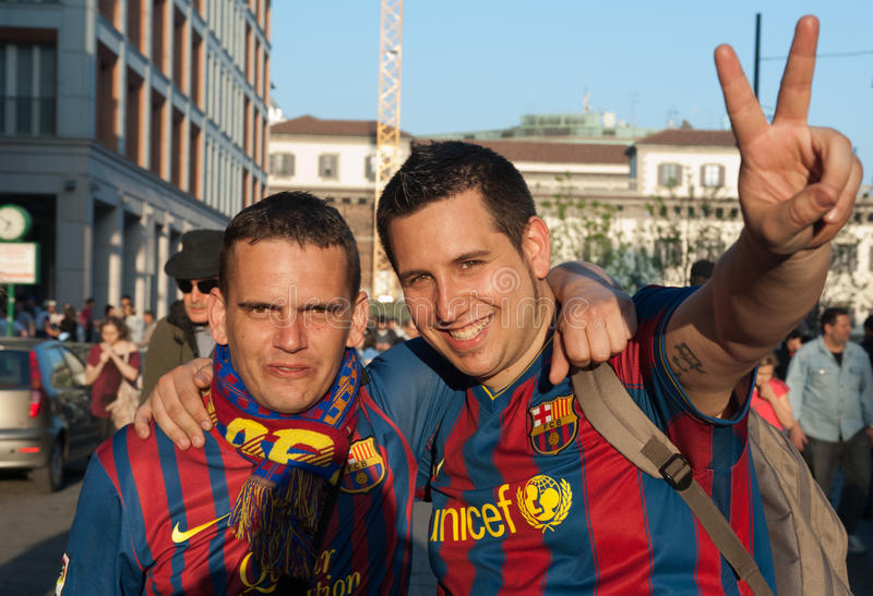 Download FC Barcelona supporters editorial stock image. Image of club - 24062214