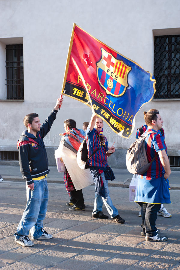 Download FC Barcelona supporters editorial photography. Image of male - 24062242