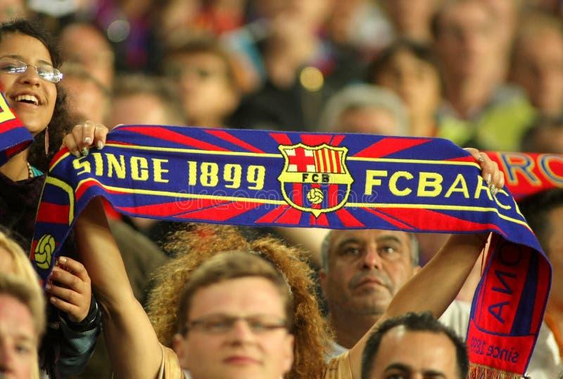 FC Barcelona Supporters Enjoying Editorial Stock Image