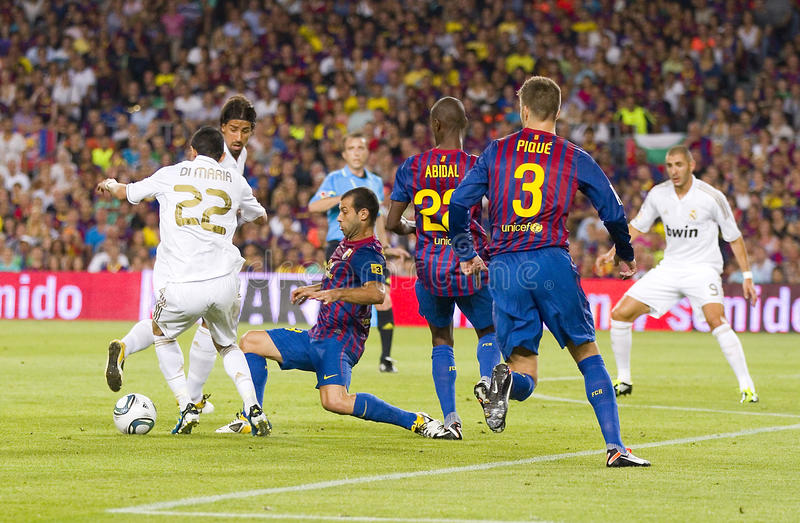 FC Barcelona versus Real Madrid stock fotografie