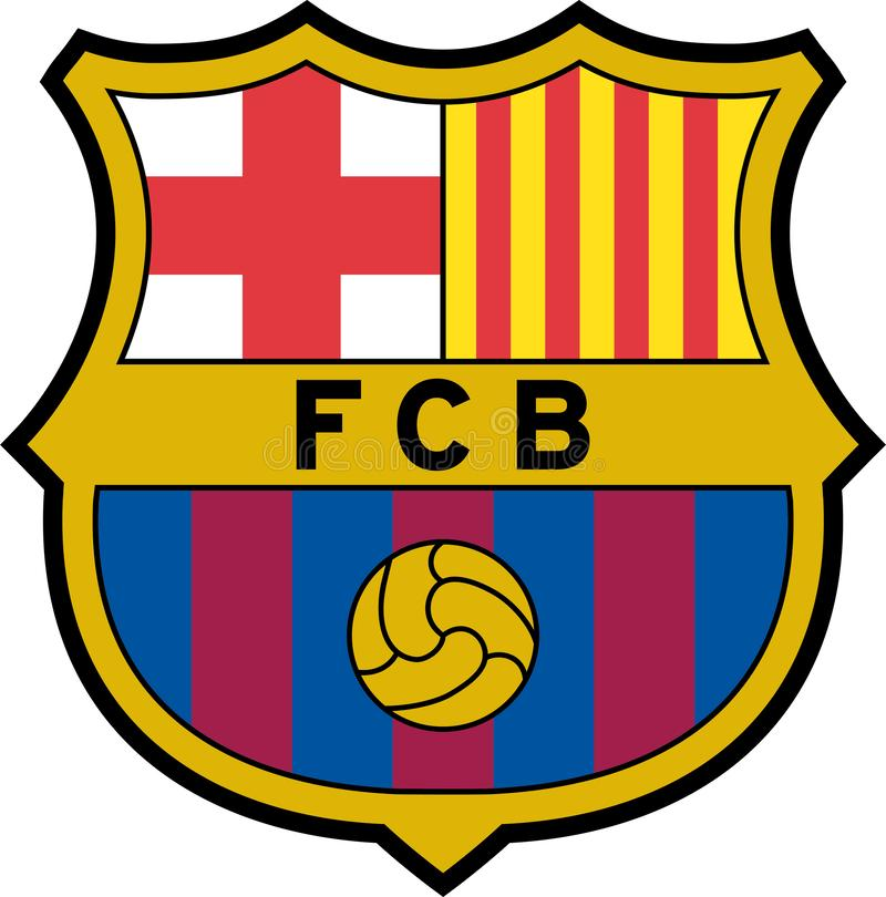 FC Barcelonalogosymbol royaltyfri illustrationer