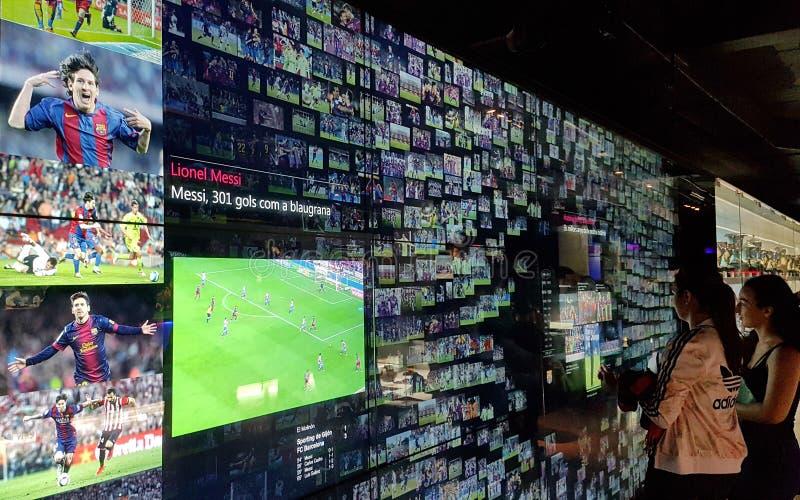 FC- Barcelonamuseum in Katalonien, Spanien stockbild