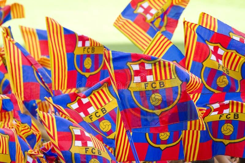 FC Barcelonasupportrar royaltyfri foto