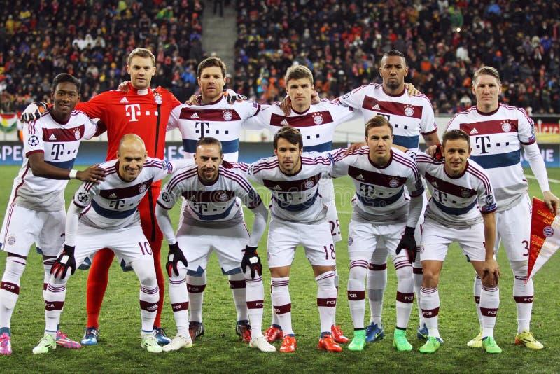 FC Bayern Munich team lizenzfreie stockbilder