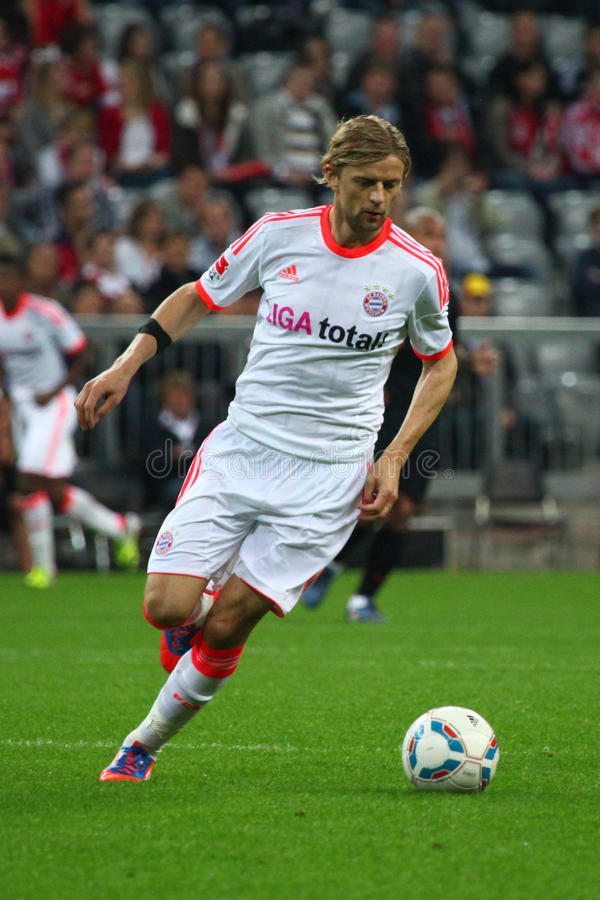 FC Bayerns Anatoliy Tympshchuk stock afbeeldingen