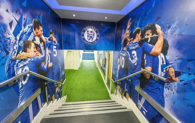 FC Chelsea stadium tunel zdjęcia royalty free